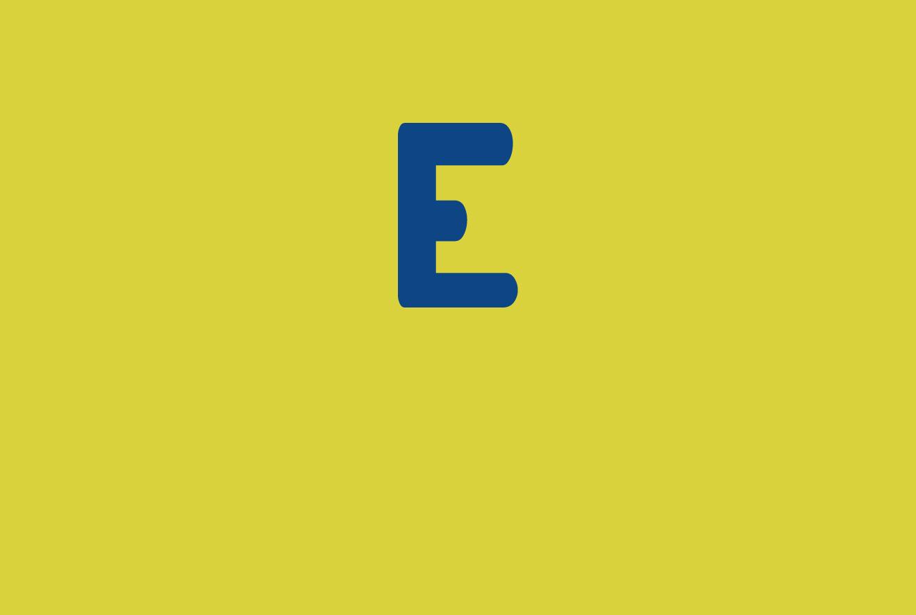 E di La lettera E